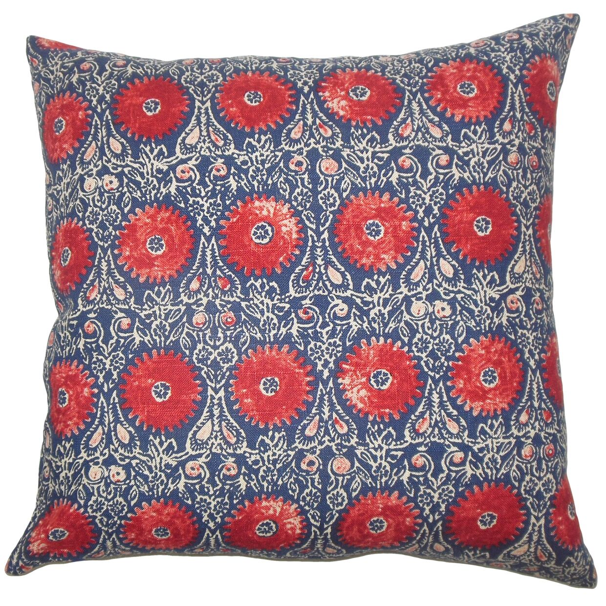 Xaria Floral Bedding Sham Color: Red Blue, Size: King