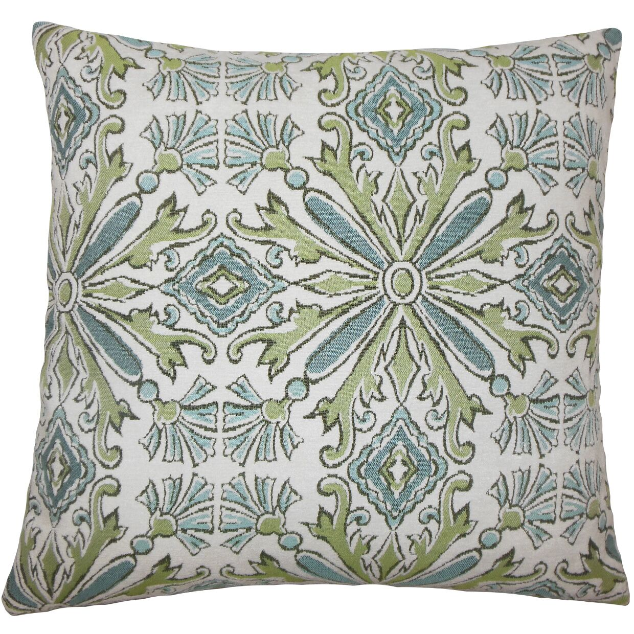 Esadowa Damask Bedding Sham Color: Aqua Green, Size: Euro