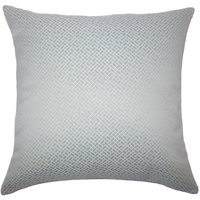 Pertessa Geometric Bedding Sham Size: Euro, Color: Aqua