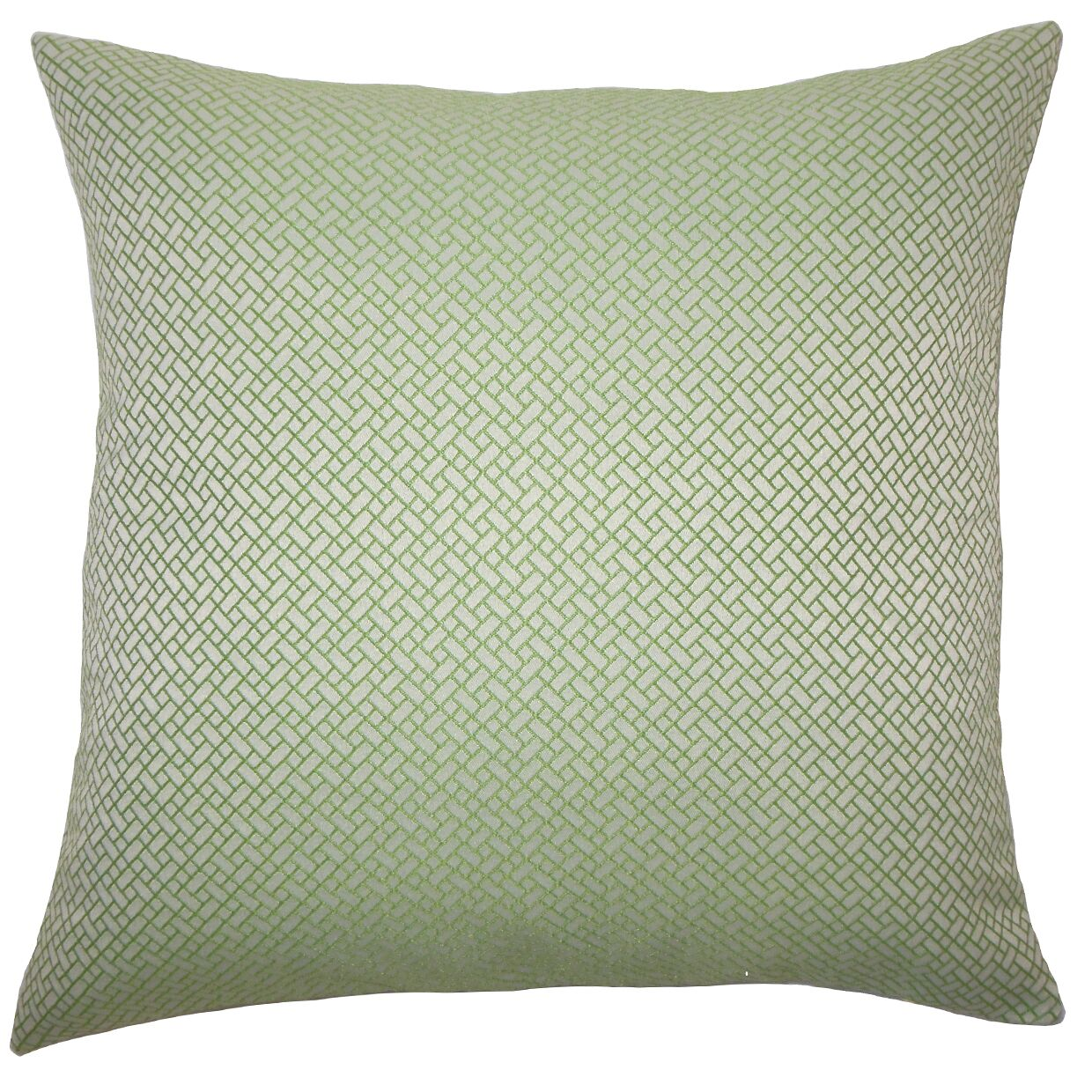Pertessa Geometric Bedding Sham Color: Green, Size: Standard