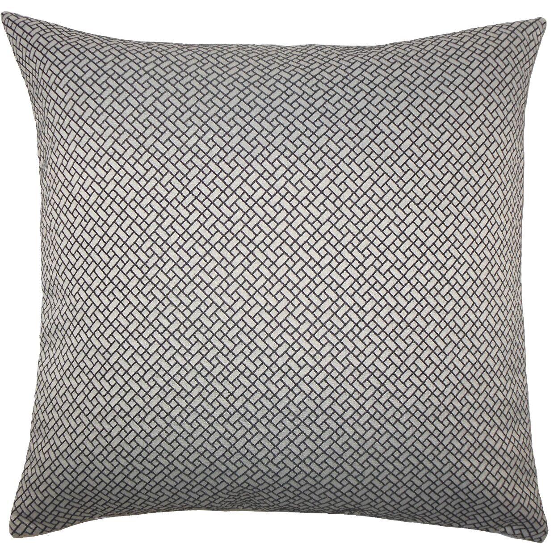 Pertessa Geometric Bedding Sham Size: Standard, Color: Black White