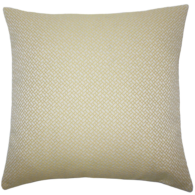 Pertessa Geometric Bedding Sham Size: King, Color: Butter Cup