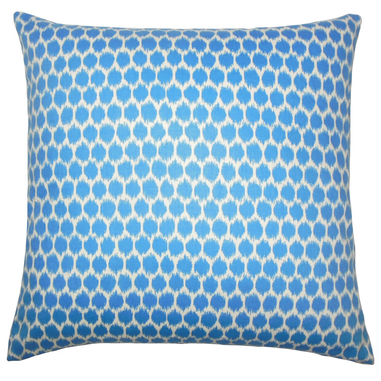 Kaif Ikat Bedding Sham Size: Euro, Color: Blueberry
