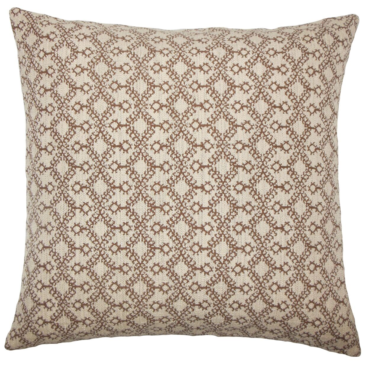 Gzifa Ikat Bedding Sham Size: Euro, Color: Brown