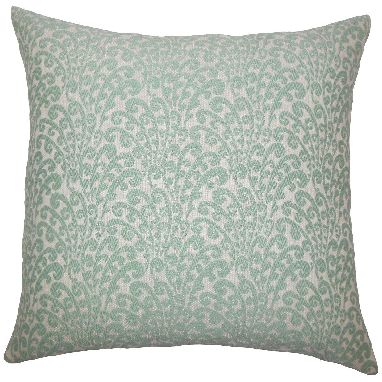 Ilkay Floral Bedding Sham Size: Euro, Color: Aqua