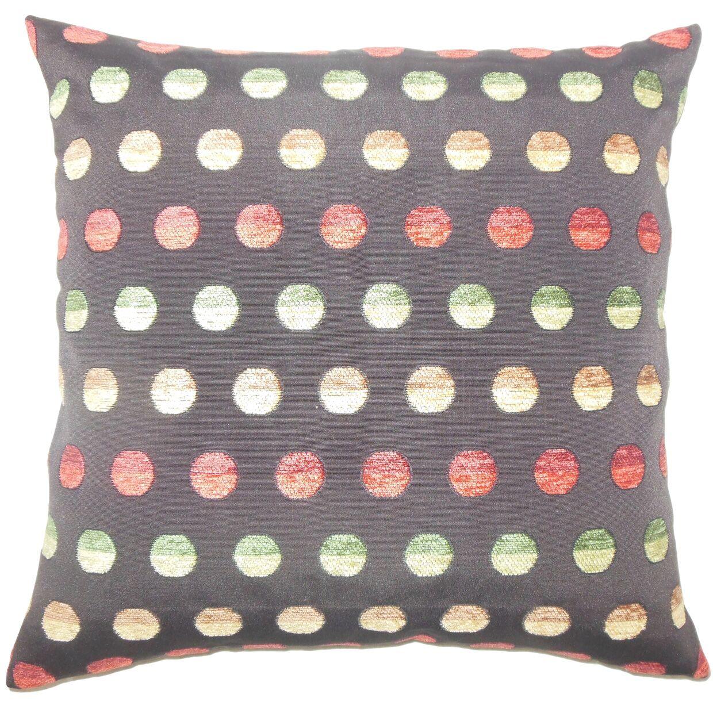 Vlora Polka Dots Bedding Sham Size: Standard, Color: Dark Gray