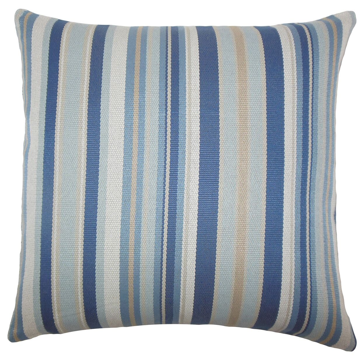 Urbaine Striped Bedding Sham Color: Blue / Brown, Size: Standard