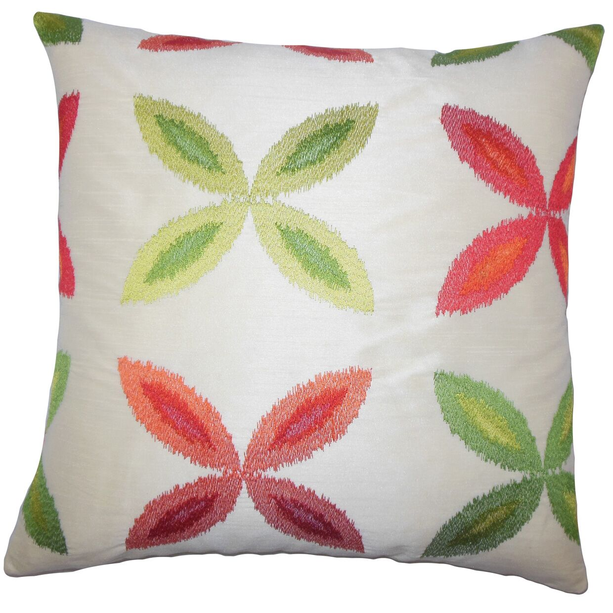 Syshe Ikat Bedding Sham Size: King, Color: Red Green