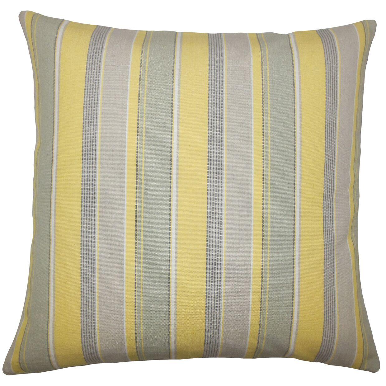 Saroja Striped Bedding Sham Color: Buttercup, Size: Queen