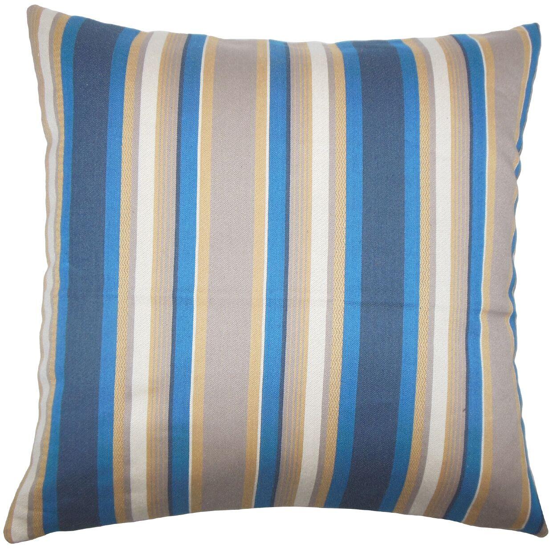 Tefo Striped Bedding Sham Size: Euro, Color: Indigo