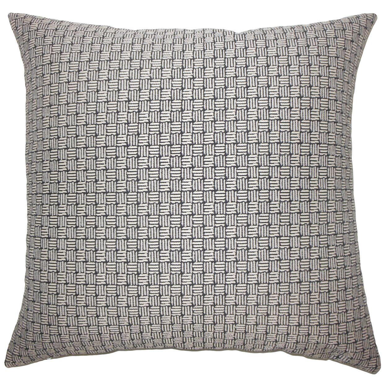 Nahuel Geometric Bedding Sham Size: Standard, Color: Black White