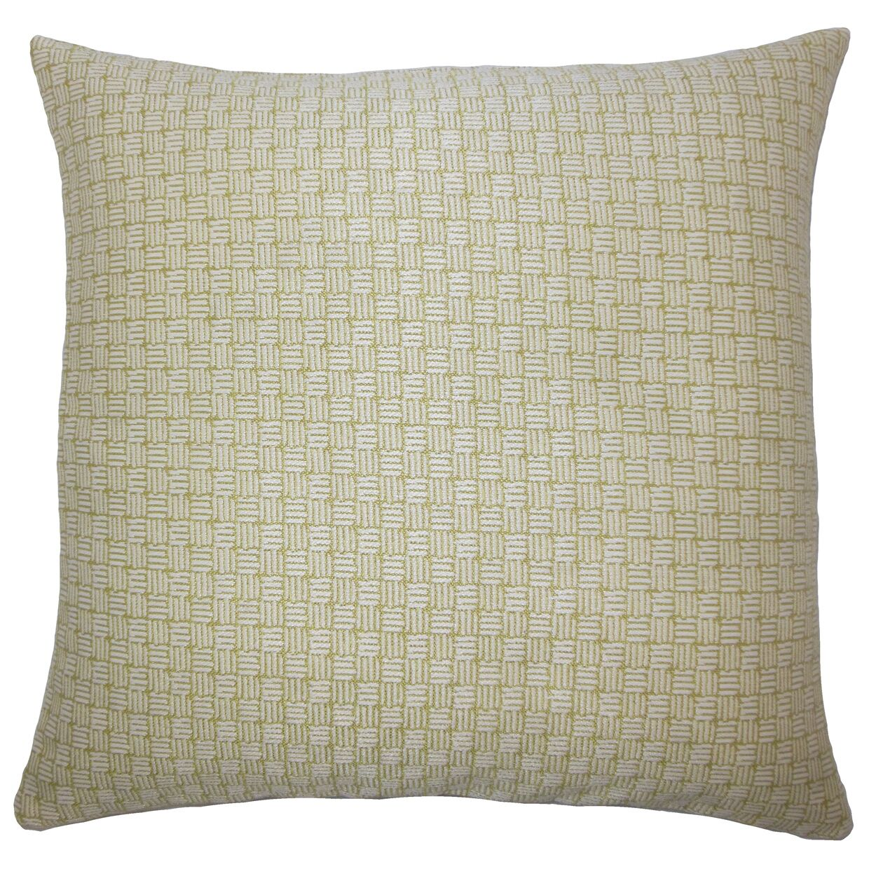 Nahuel Geometric Bedding Sham Size: King, Color: Peridot
