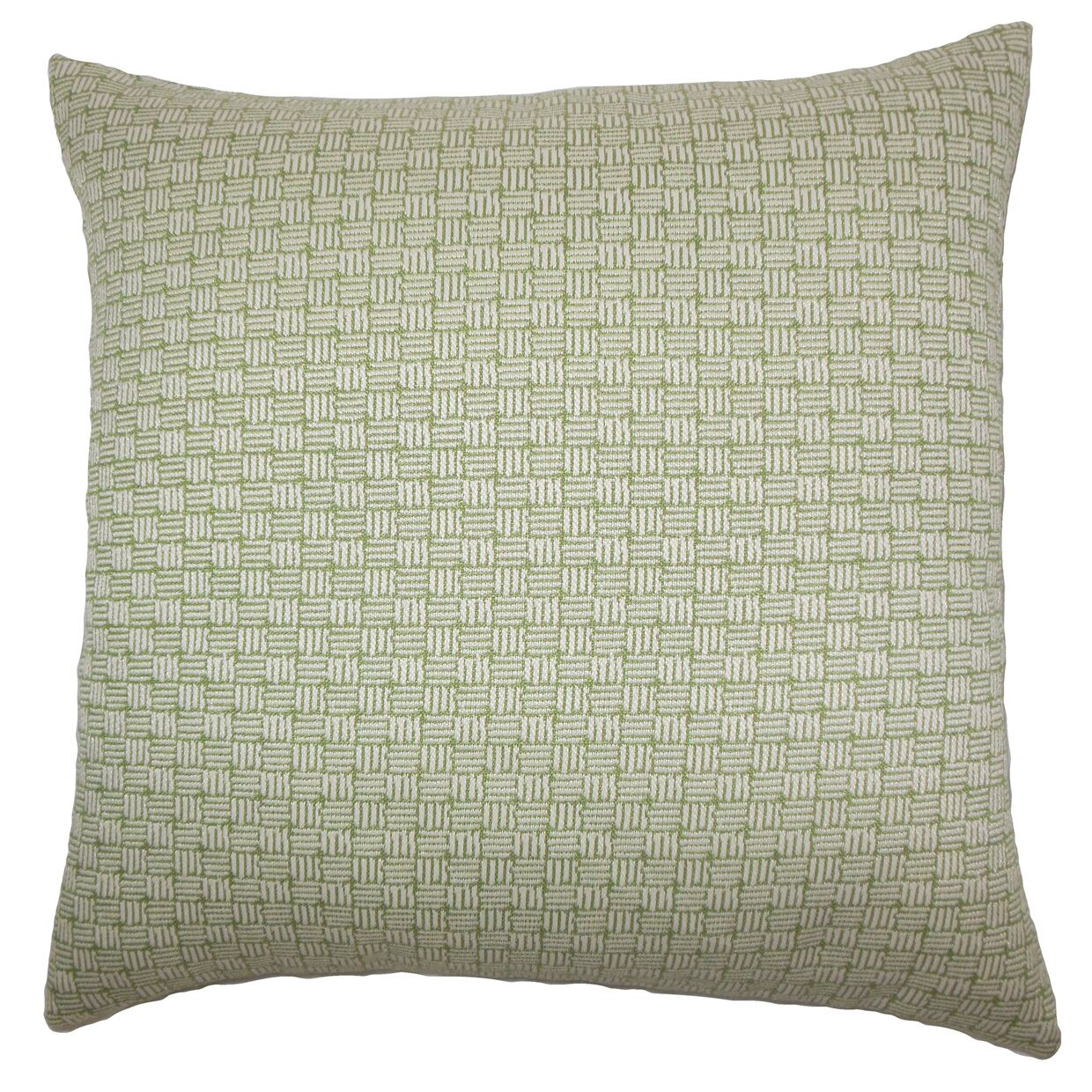 Nahuel Geometric Bedding Sham Size: King, Color: Green