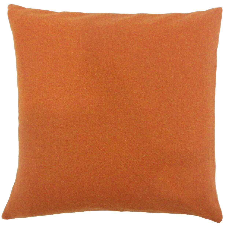 Vella Solid Bedding Sham Size: Euro, Color: Pumpkin