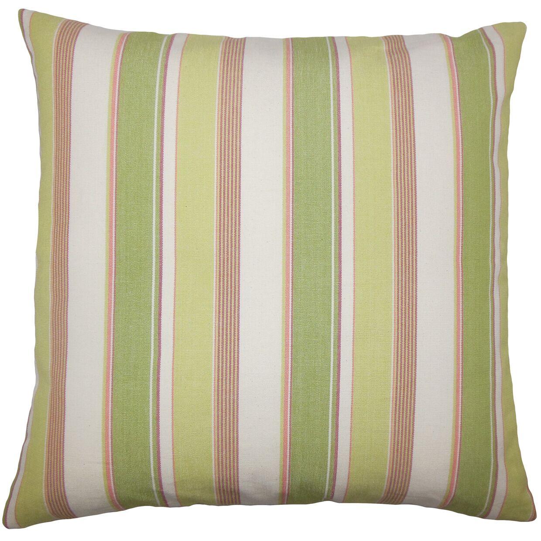 Saroja Striped Bedding Sham Size: Euro, Color: Kiwi Pink