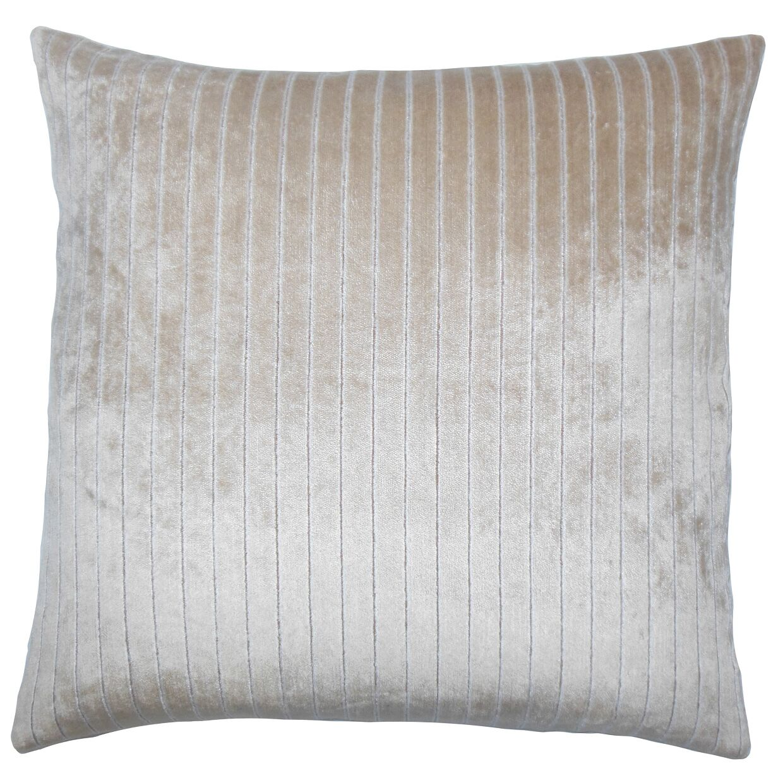 Ardley Striped Bedding Sham Color: Driftwood, Size: King