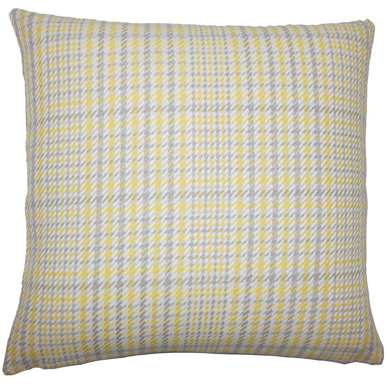 Kalle Houndstooth Bedding Sham Size: Standard, Color: Jonquil
