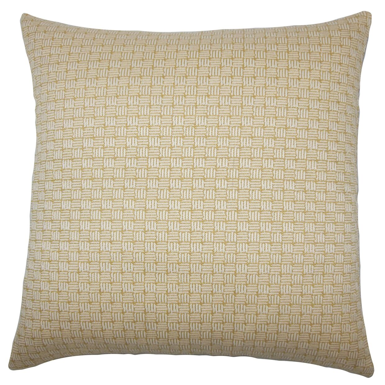 Nahuel Geometric Bedding Sham Size: Queen, Color: Bamboo