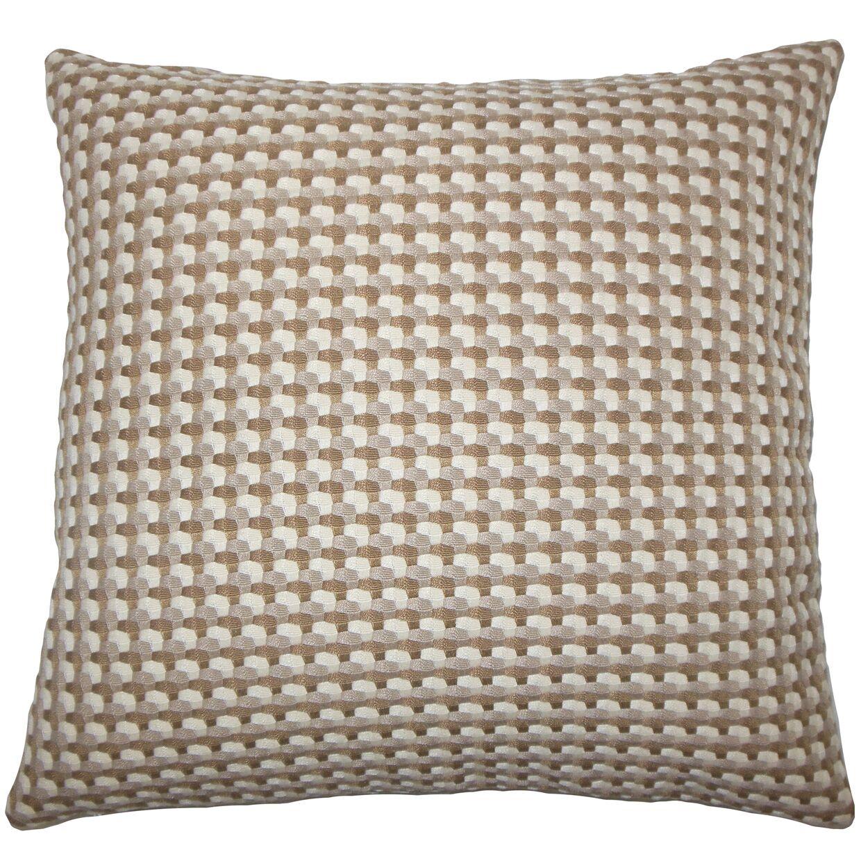 Nadezhda Geometric Bedding Sham Size: King, Color: Mushroom