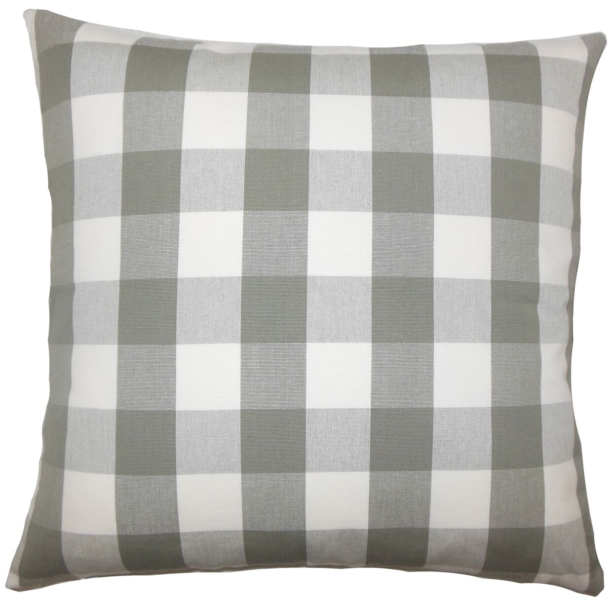 Nelson Plaid Bedding Sham Size: Queen, Color: Iron