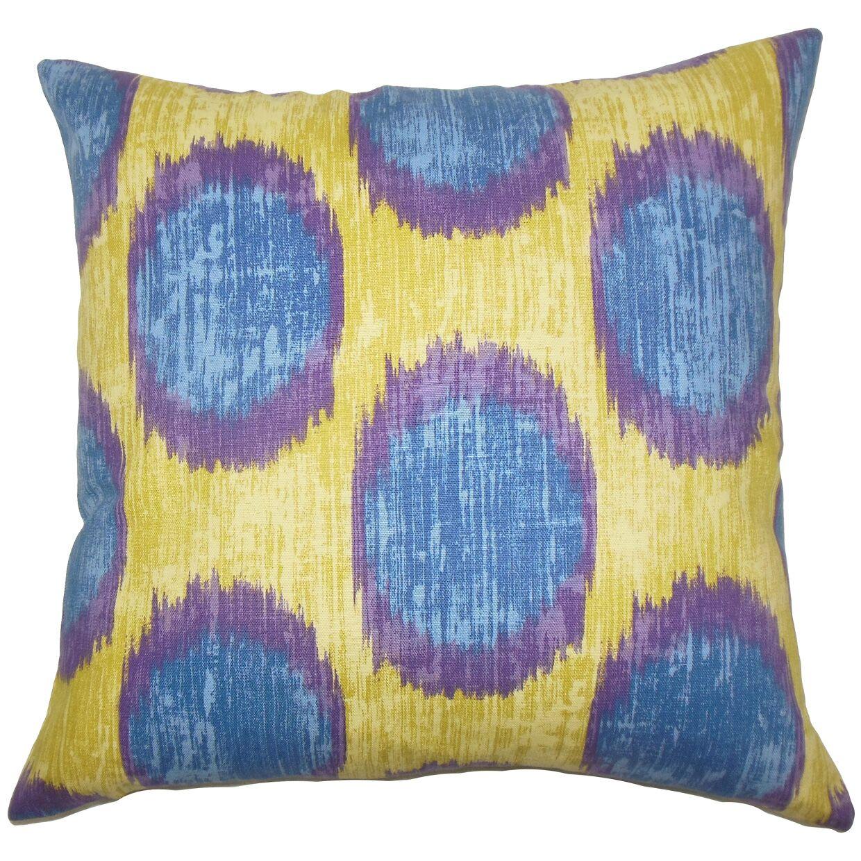 Ridha Ikat Bedding Sham Size: Queen, Color: Purple Sage