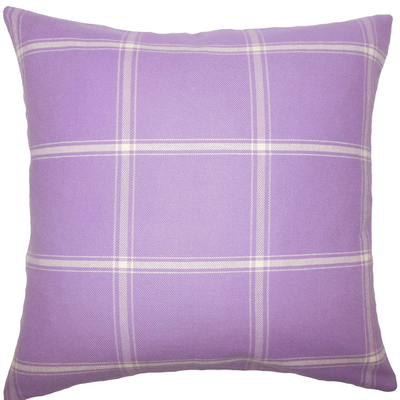 Sabriyya Plaid Bedding Sham Size: Euro, Color: Hyacinth