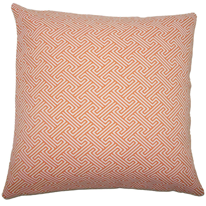 Reijo Geometric Bedding Sham Size: Queen, Color: Orange