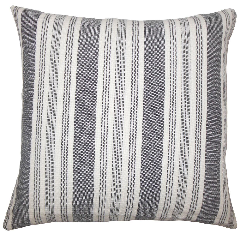 Reiki Striped Bedding Sham Size: Euro, Color: White