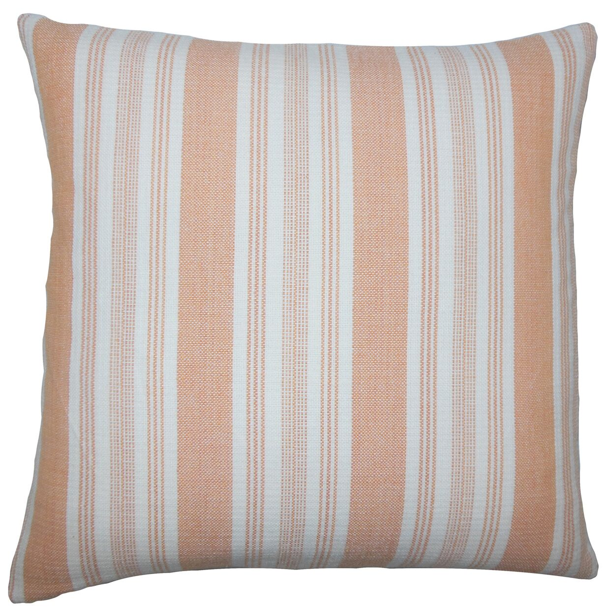 Reiki Striped Bedding Sham Color: Orange, Size: Standard
