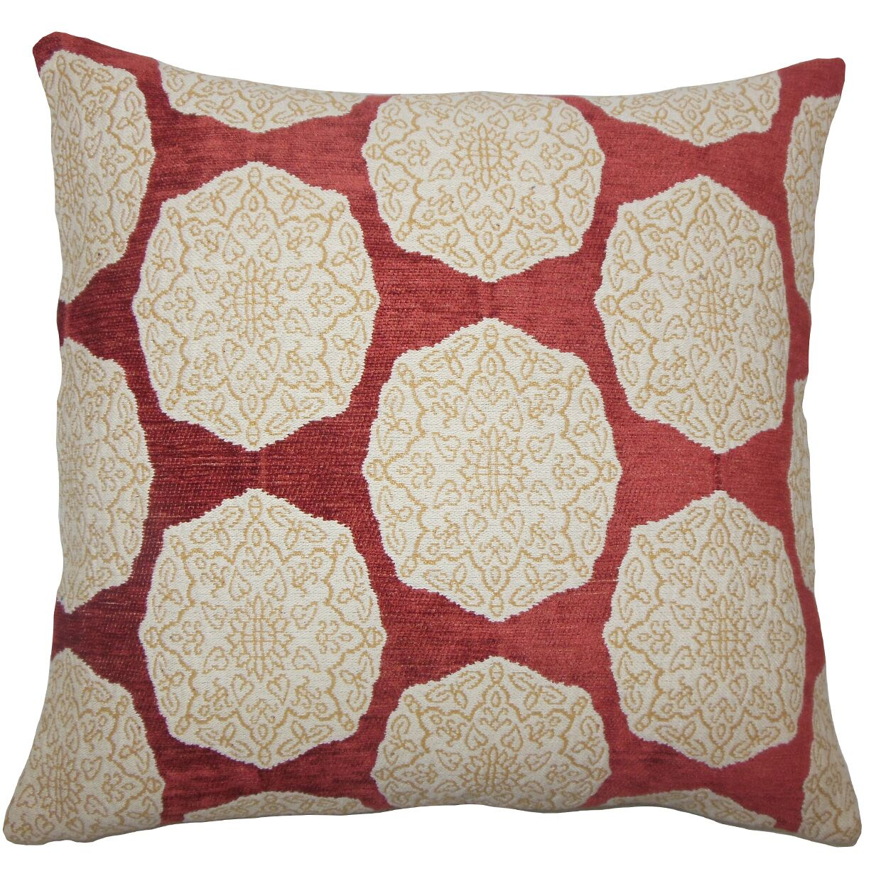 Quitzal Geometric Bedding Sham Size: Euro, Color: Cayenne