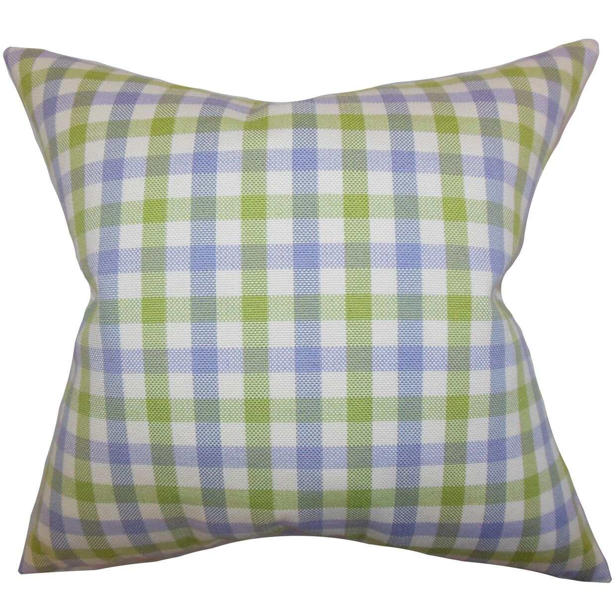 Jewell Plaid Bedding Sham Size: King, Color: Blue/Green