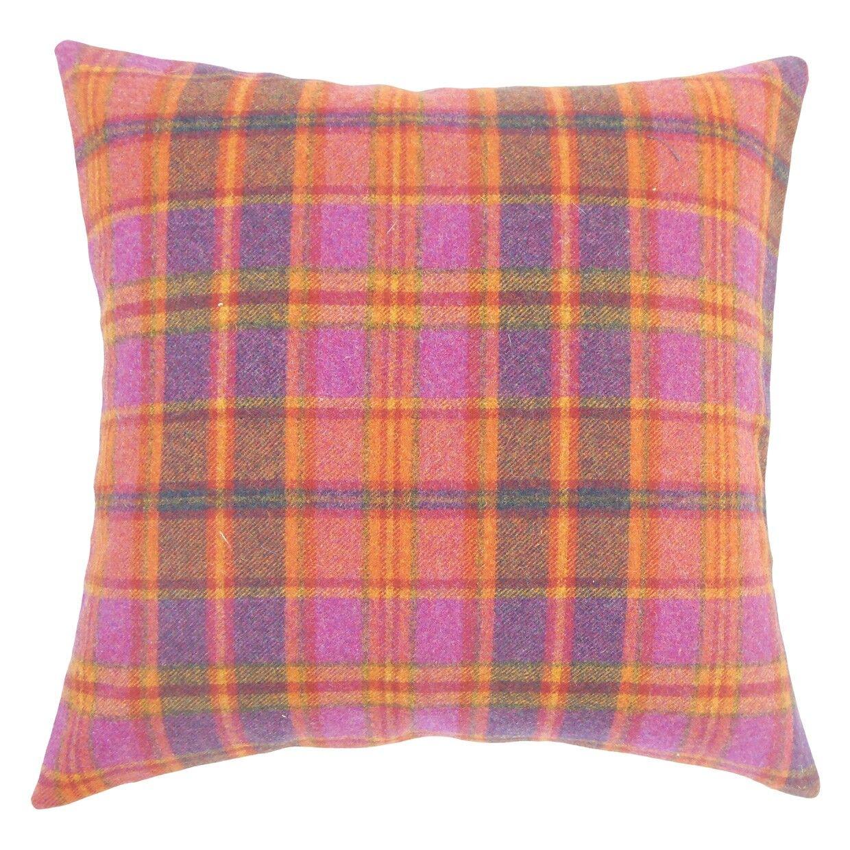 Javion Plaid Wool Throw Pillow Size: 20