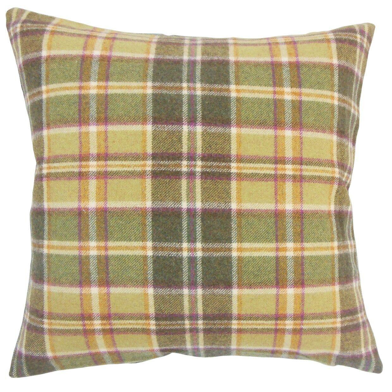 Kadmiel Plaid Wool Throw Pillow Size: 20