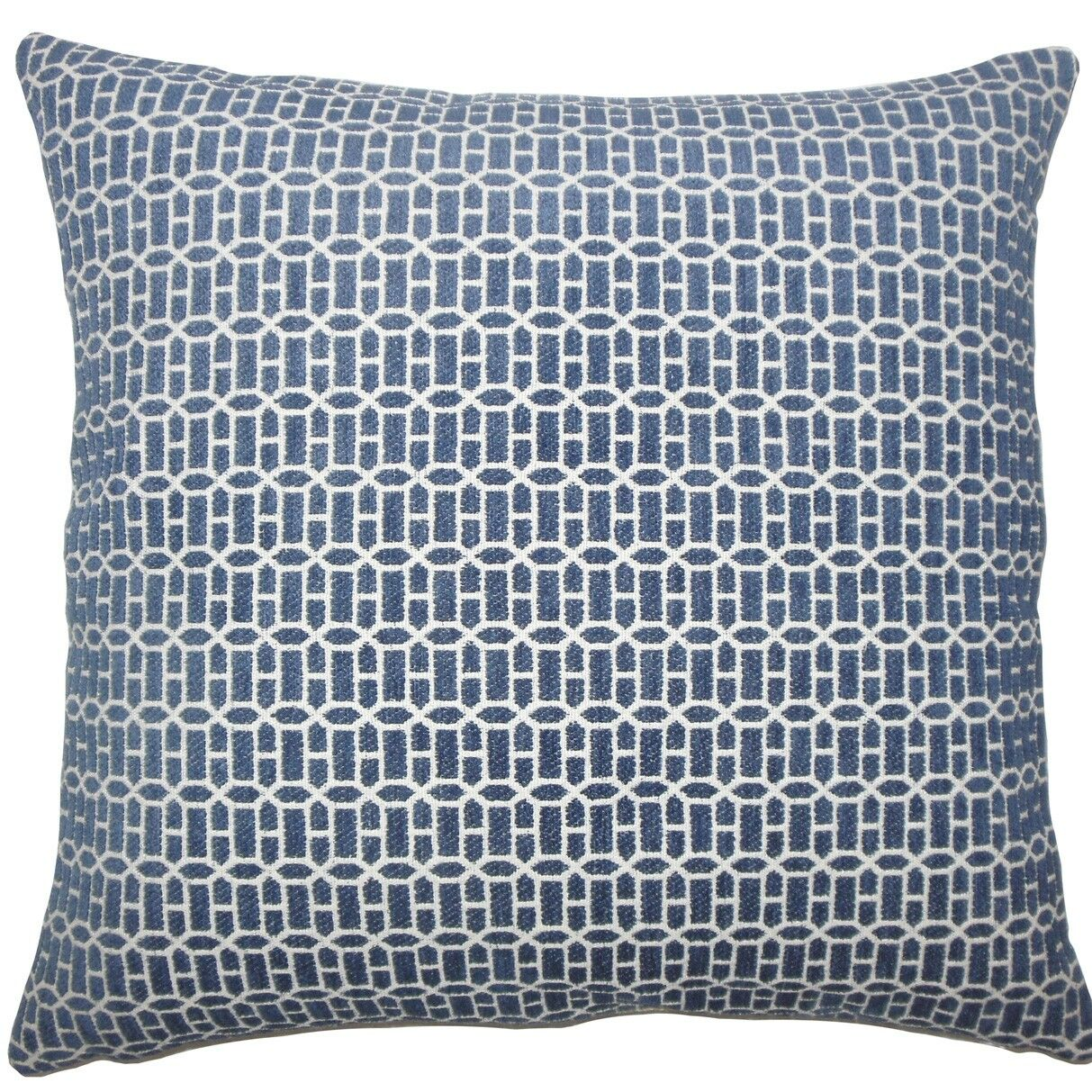 Qiao Geometric Throw Pillow Color: Lapis, Size: 24