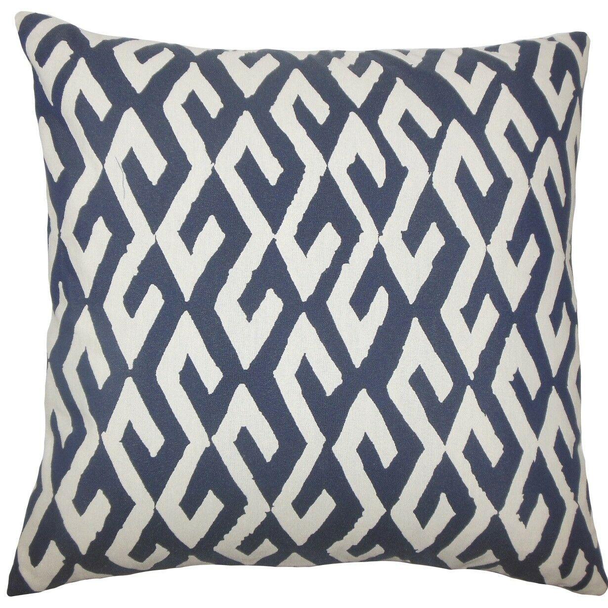 Yasunari Geometric Throw Pillow Size: 18