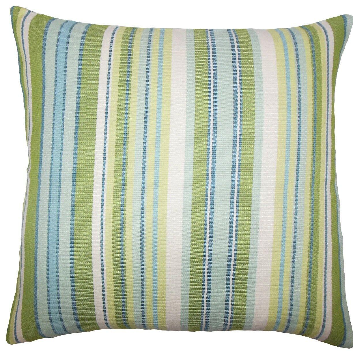 Urbaine Striped Burlap Throw Pillow Size: 20