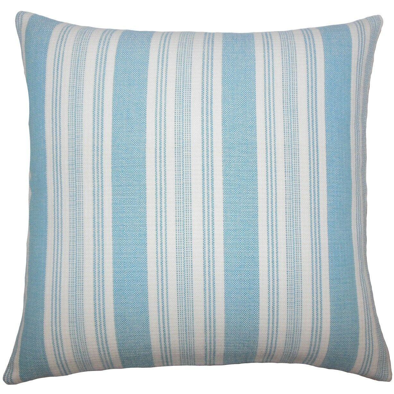 Reiki Striped Cotton Throw Pillow Size: 20