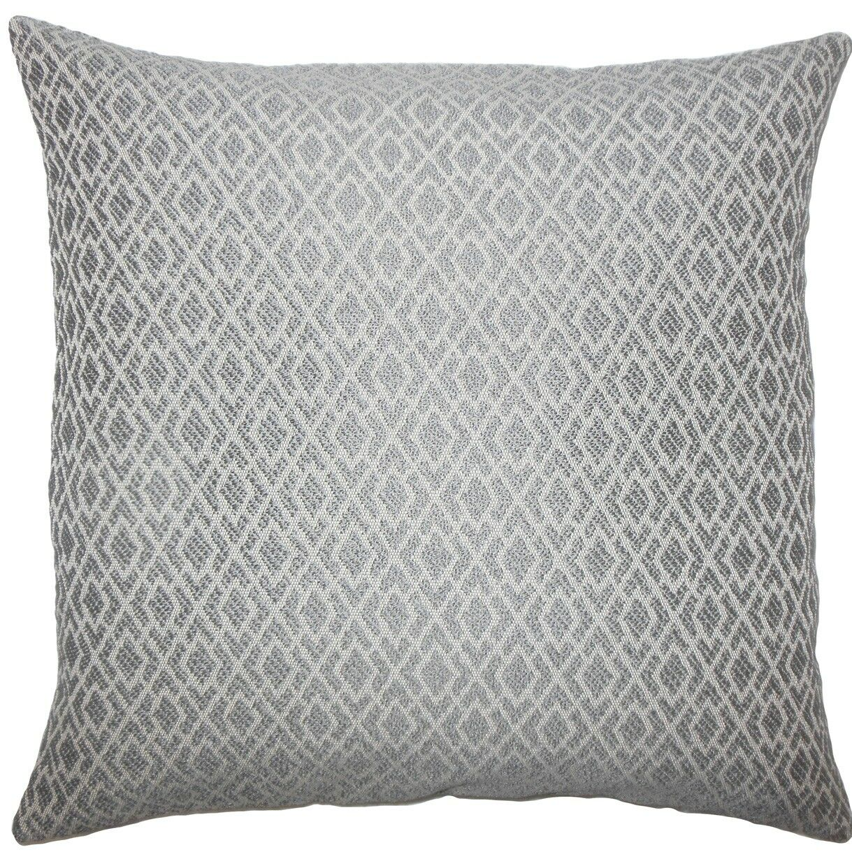 Calanthe Geometric Throw Pillow Color: Pewter, Size: 24