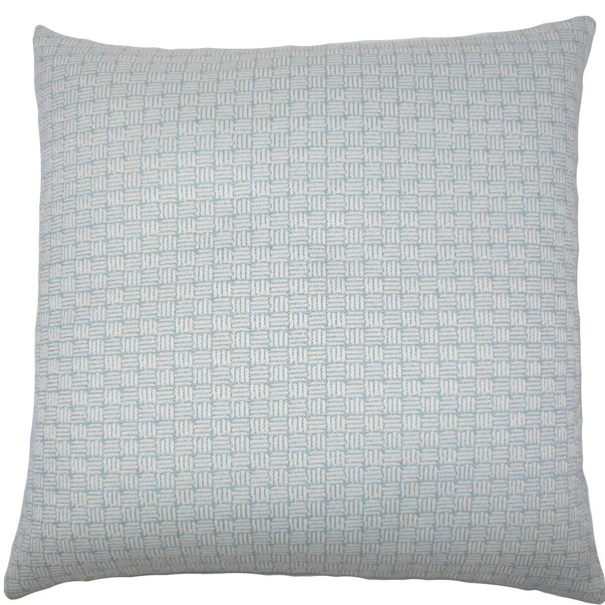 Nahuel Geometric Throw Pillow Color: Aqua, Size: 24