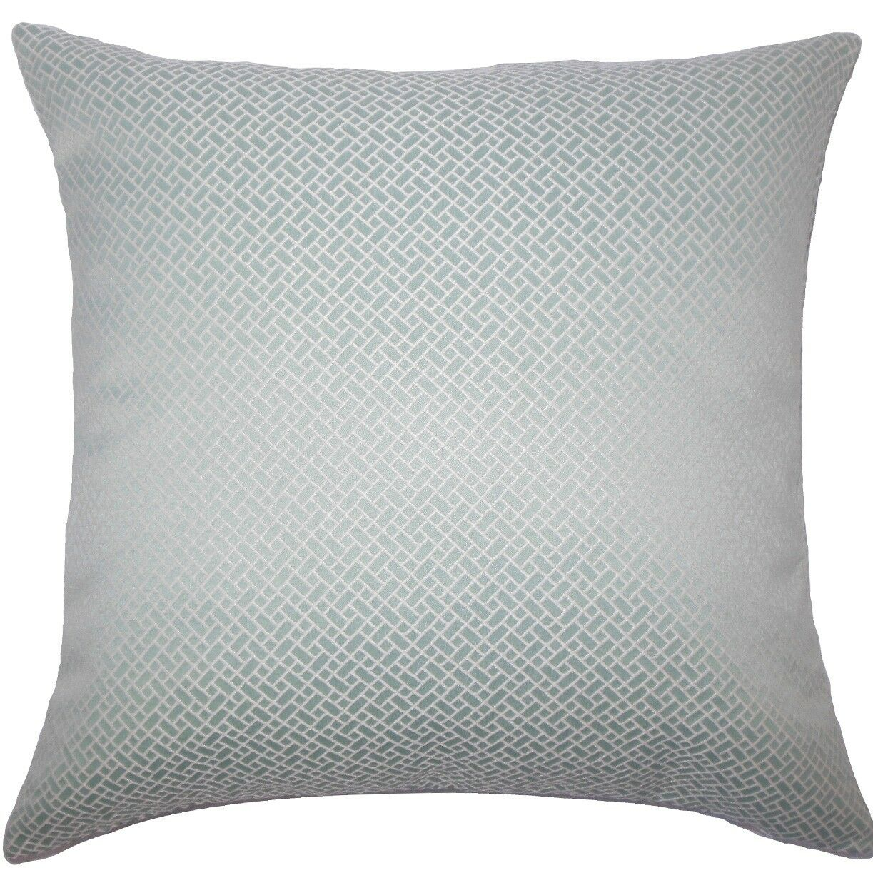 Pertessa Geometric Throw Pillow Color: Aqua, Size: 20