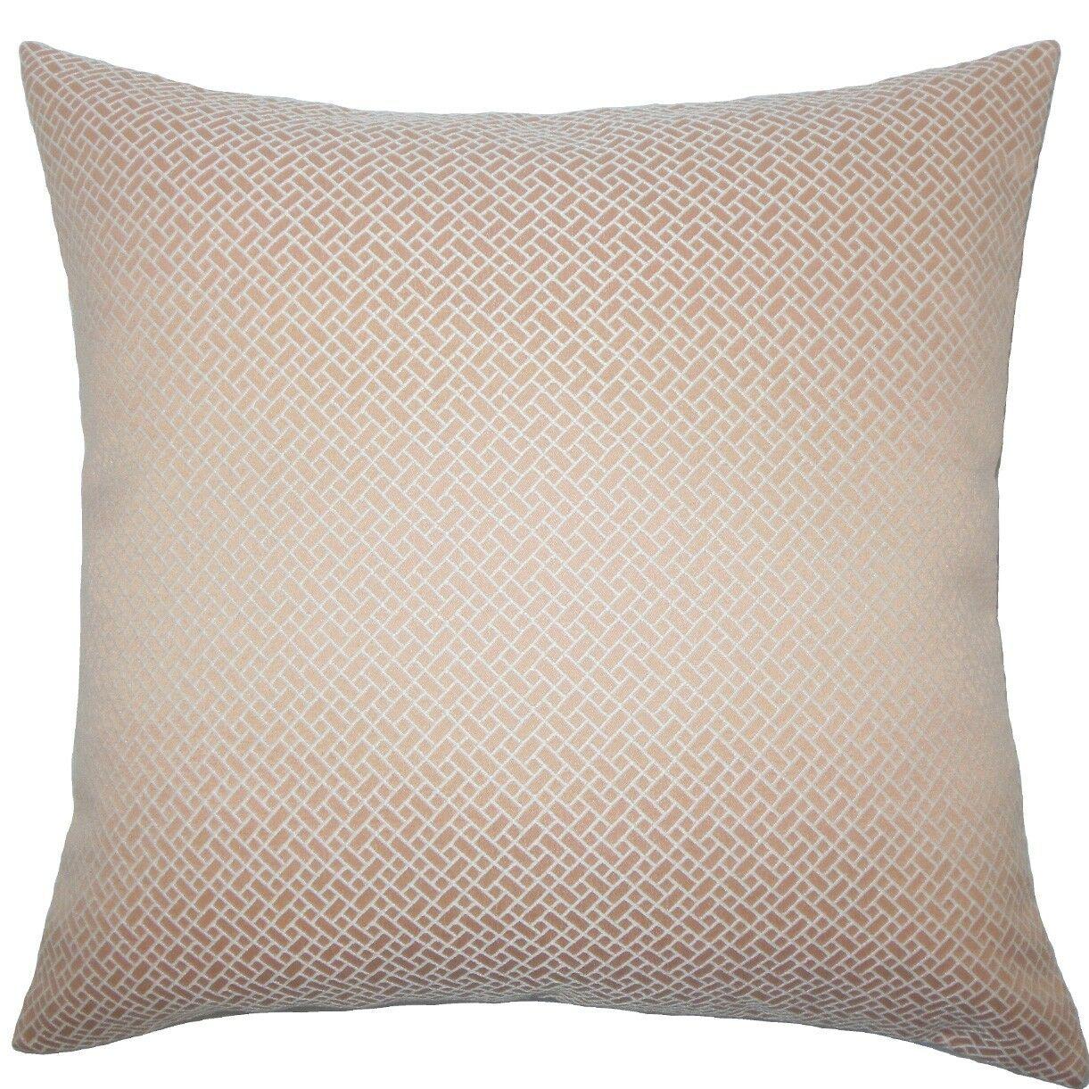 Pertessa Geometric Throw Pillow Color: Blush, Size: 22