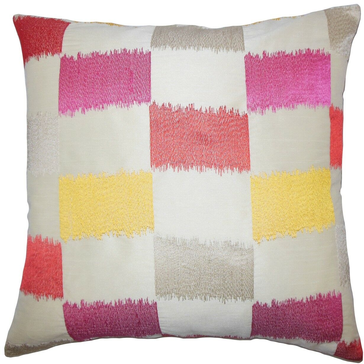 Ruchel Geometric Throw Pillow Color: Flame, Size: 24