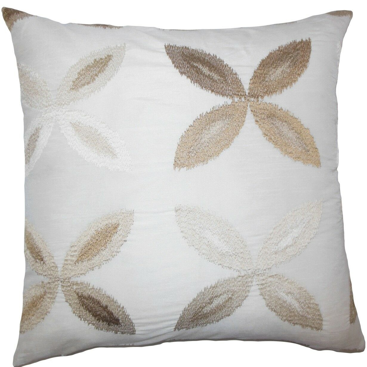 Syshe Ikat Throw Pillow Color: Natural, Size: 24
