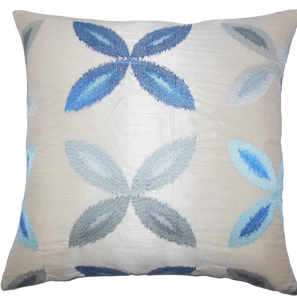 Syshe Ikat Throw Pillow Color: Blue, Size: 24