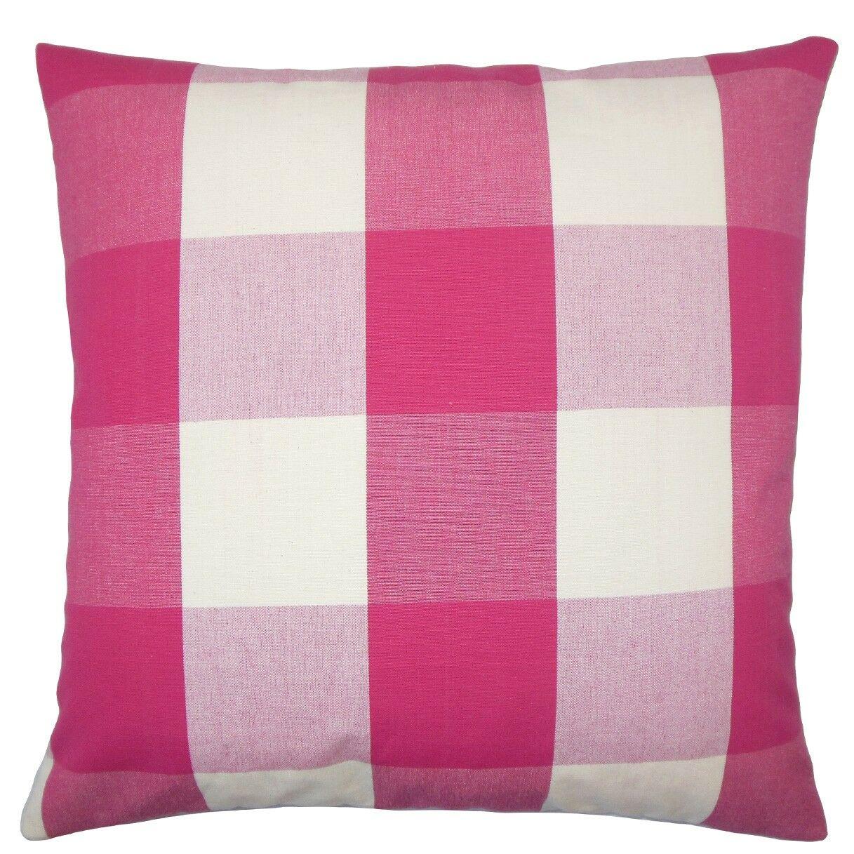 Pyralis Plaid Cotton Throw Pillow Size: 20