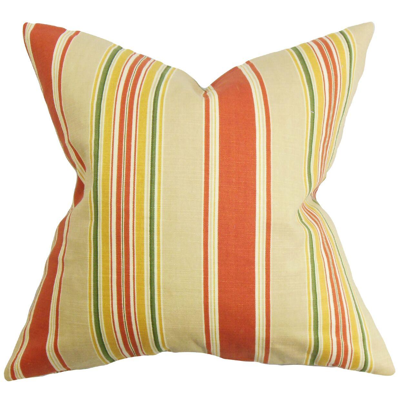 Ashprington Stripes Floor Pillow Color: Red