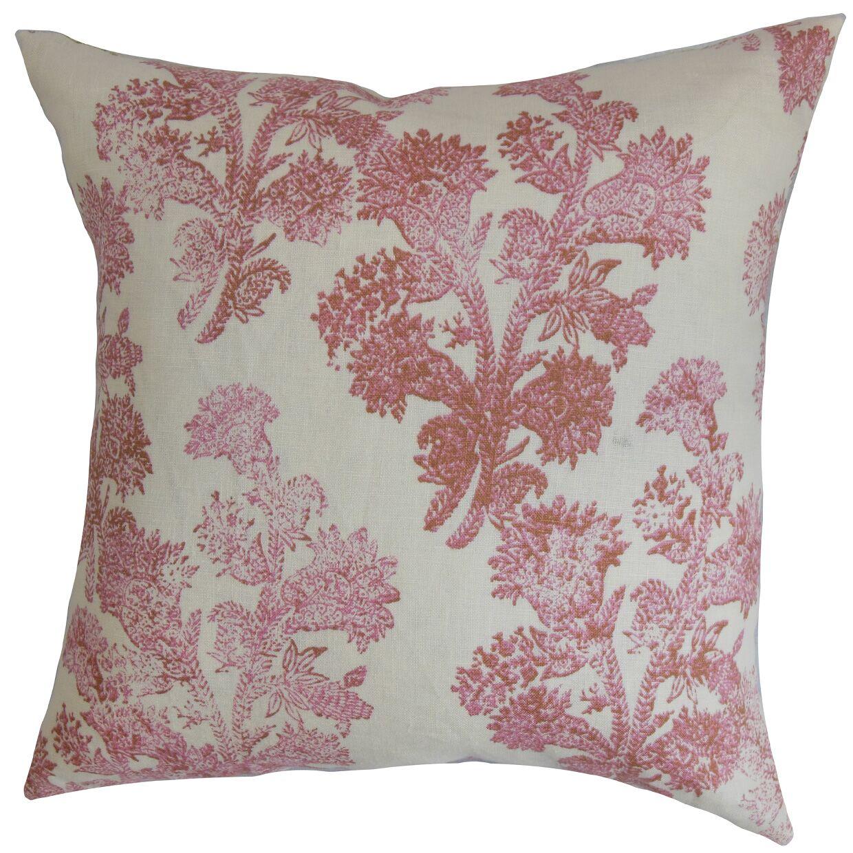 Asencio Floral Floor Pillow Color: Rosehips