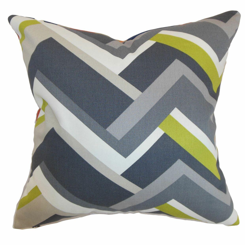 Armona Geometric Floor Pillow Color: Gray