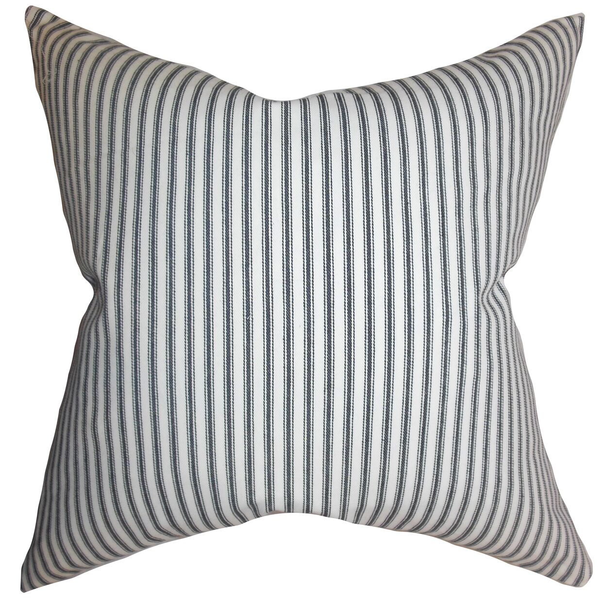 Calvin Stripes Floor Pillow Color: Gray