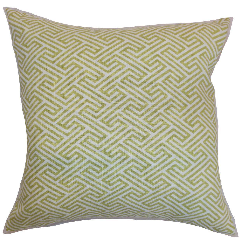 Jarett Geometric Floor Pillow Color: Spring Green